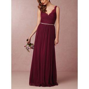 BHLDN Fleur Dress Black Cherry